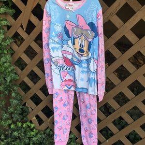 NWT Disney Minnie Mouse 2pc. Pajama Set, Size 8